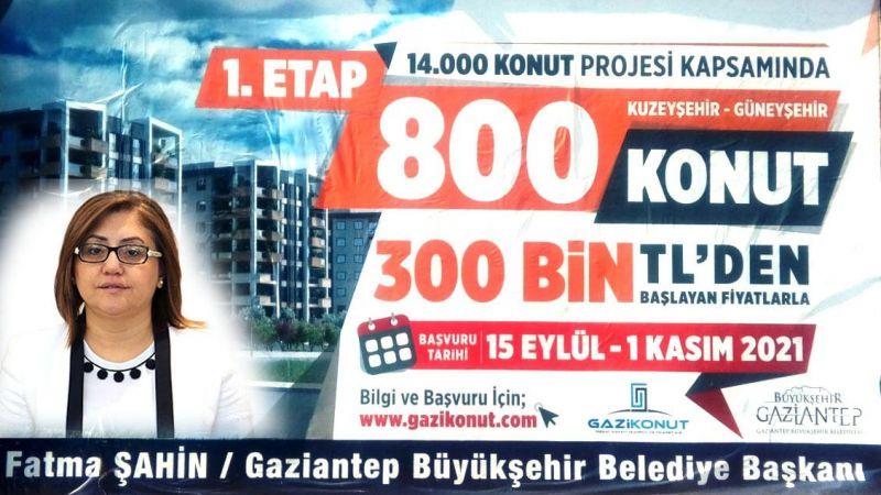 Son Dakika:Gaziantep'te Güneyşehir ve Kuzeyşehir'de 800 konut satışa çıktı...İşte Başvuru Tarihi!