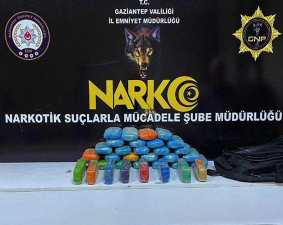 Son Dakika...Gaziantep'te 16 kilo 650 gram eroin ele geçirildi