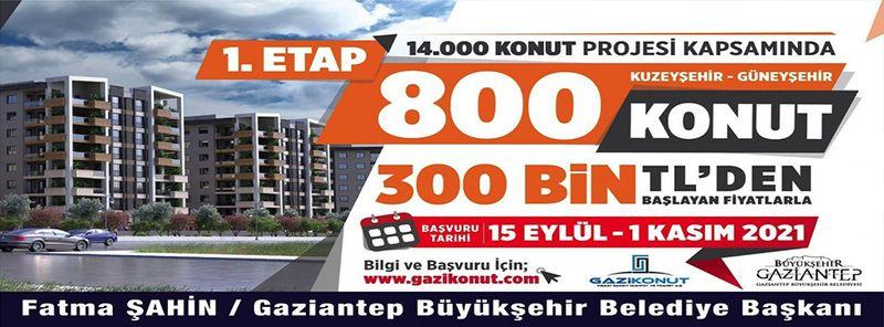 Son Dakika: İşte Koşullar!Gaziantep'te 14 bin konut için ön talep toplanmaya başlandı.