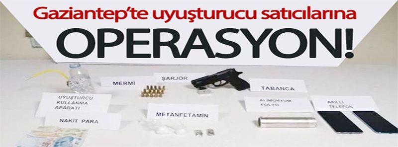 Gaziantep'te uyuşturucu satıcılarına operasyon: 1 gözaltı
