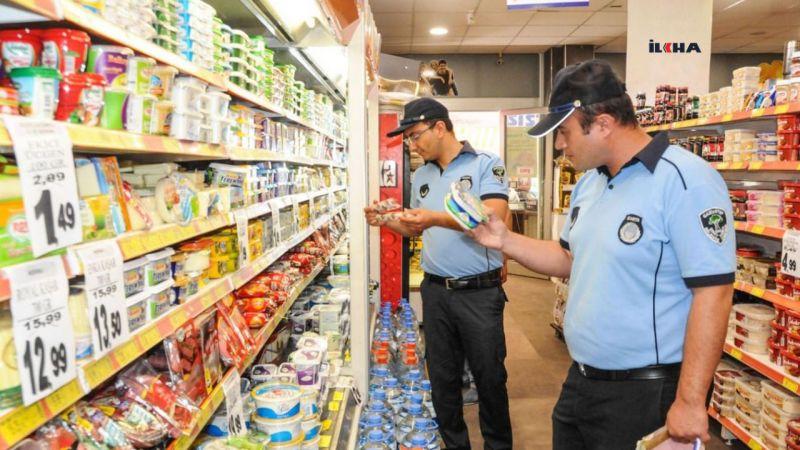 Gaziantep'te market, hal, manav ve pazarlara şok baskınlar
