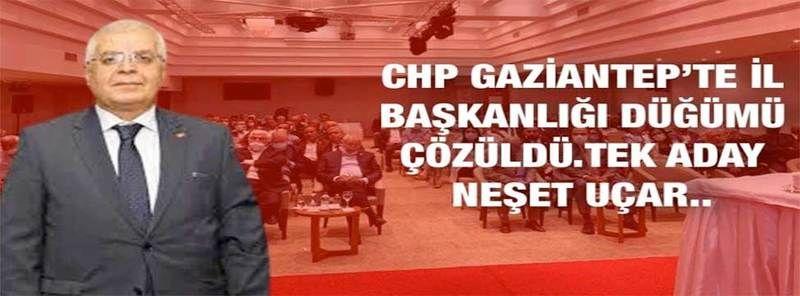 Flaş Haber: CHP Gaziantep'te il başkanlığı düğümü çözüldü. Tek aday Neşet Uçar..