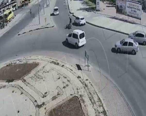 Video Haber...Gaziantep'te kazalar mobese kameralarına yansıdı