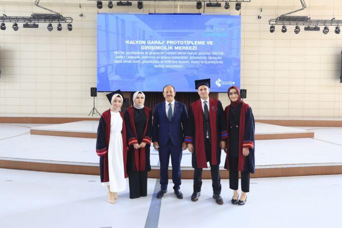 Hasan Kalyoncu Üniversitesi'nde 2021 mezunları kep attı