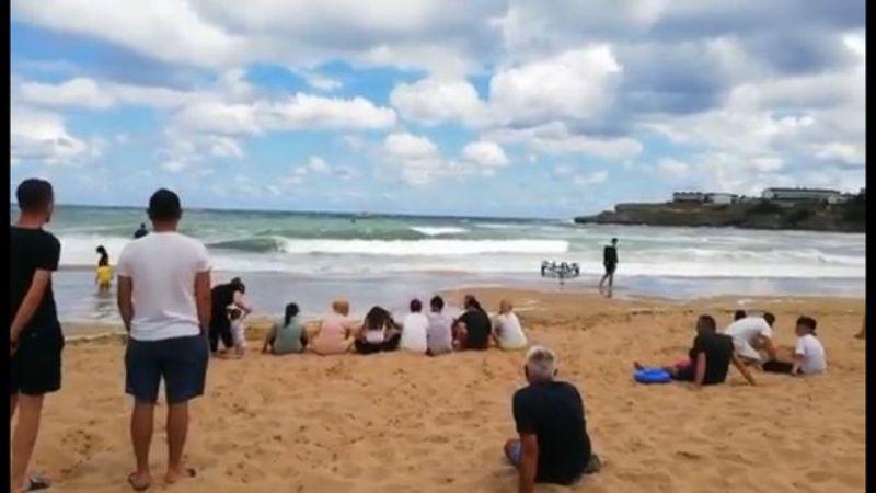 Kandıra'da dalgalara kapılan Özcan kayboldu