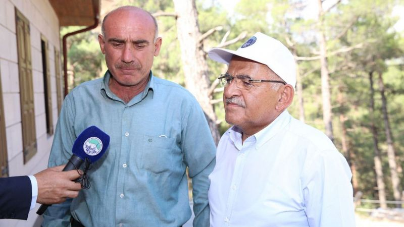 Kayseri'deki yangına 100 kişilik ekiple müdahale