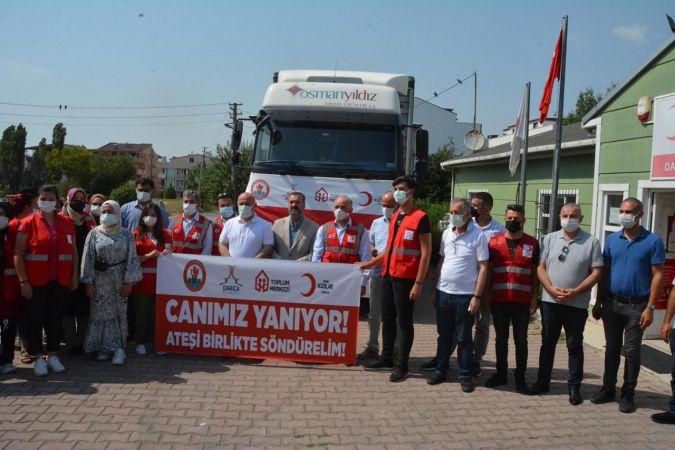 Darıca'dan, Manavgat'a yardım tırı gönderildi!