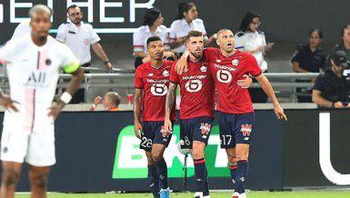 Bizim çocuklar tarih yazdı! Lille, PSG'yi devirerek Fransa Süper Kupası'nın sahibi oldu
