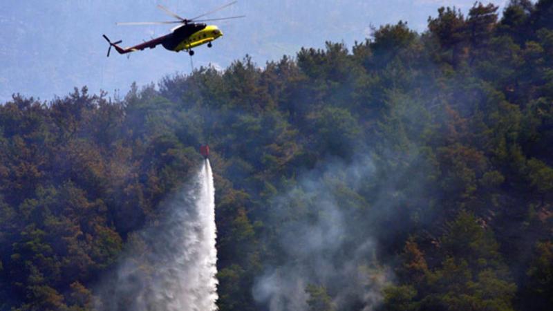 """""""Yangın söndürme helikopteri düştü"""" iddiasına Orman Genel Müdürlüğü'nden çok net yanıt: Haber asılsızdır"""