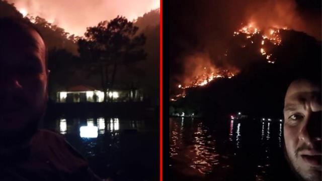 Şahan Gökbakar, yangın bölgesinden canlı yayın yaptı