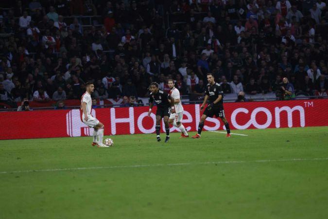UEFA Şampiyonlar Ligi: Ajax: 2 - Beşiktaş: 0 (İlk yarı)