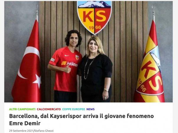 Barcelona'ya Türk yetenek: Emre Demir, İtalya'da manşetlerde