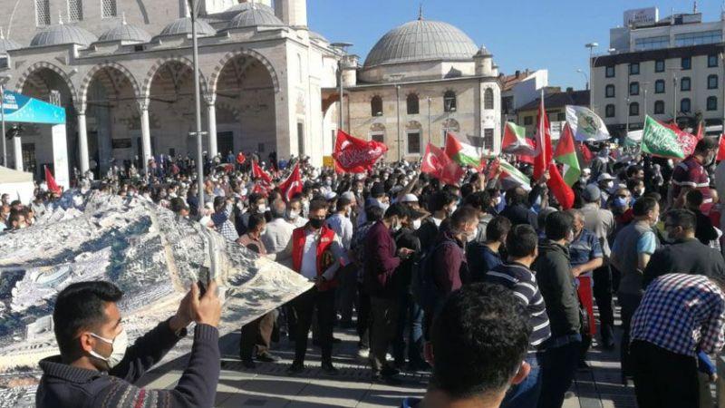 İsrail'in Mescid-i Aksa saldırıları Konya'da protesto edildi