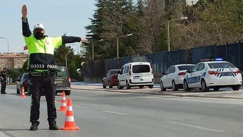 Tam kapanmanın son haftasında 1.847 sürücüye trafik kurallarını ihlalden ceza