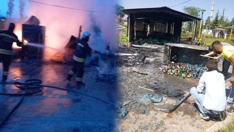 Ereğli'de park yangını! Büyük hasar oluştu