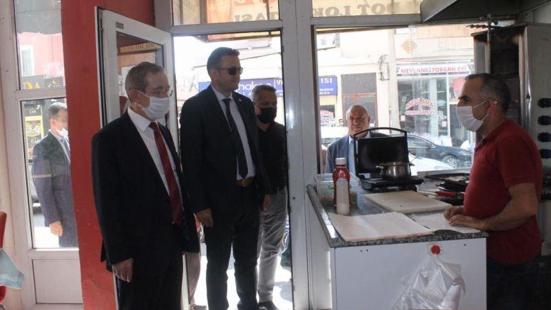 Abdüllatif Şener Ereğli'de esnaf ziyaretlerinde bulundu