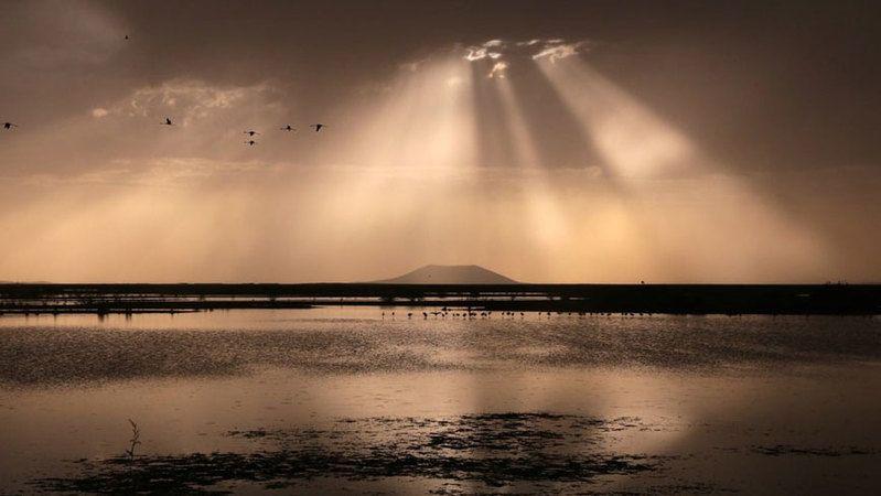 Akgöl Sazlıklarında gün batımı