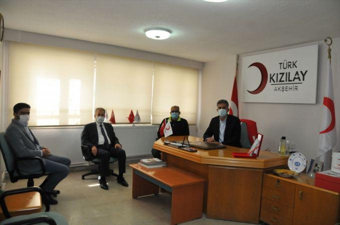 Başkan Akkaya'dan, Türk Kızılay Akşehir Şube Başkanı Sümer'e ziyaret