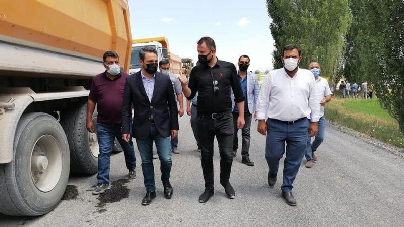 Ereğli'nin yollarını Büyükşehir Belediyesi Yapıyor