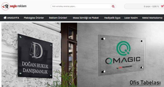 İsme ve Logoya Özel Kapı İsimliği
