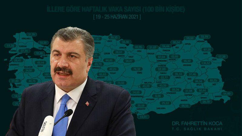 Bakan Koca yeni haritayı paylaştı! Konya'da son durum