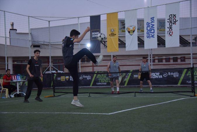 """Konya'da """"Ayak Tenisi Turnuvası"""" düzenlendi"""