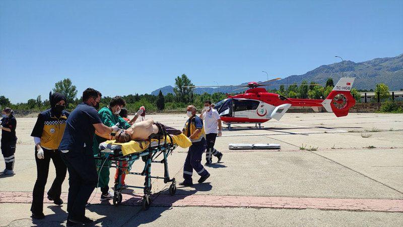 Kurban keserken yaralandı! İmdadına hava ambulansı yetişti
