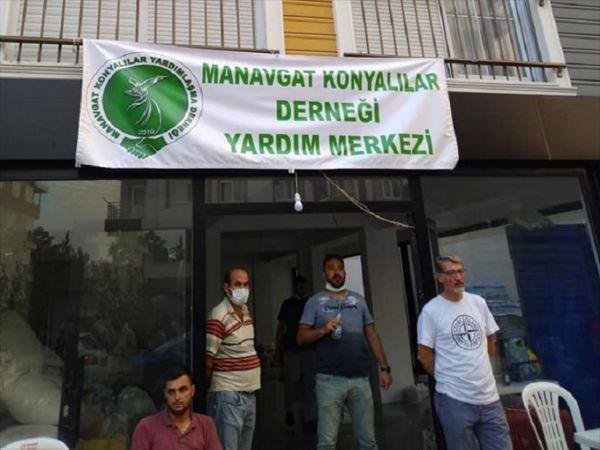 Beyşehir ve Yalıhüyük'ten Manavgat'a yardım