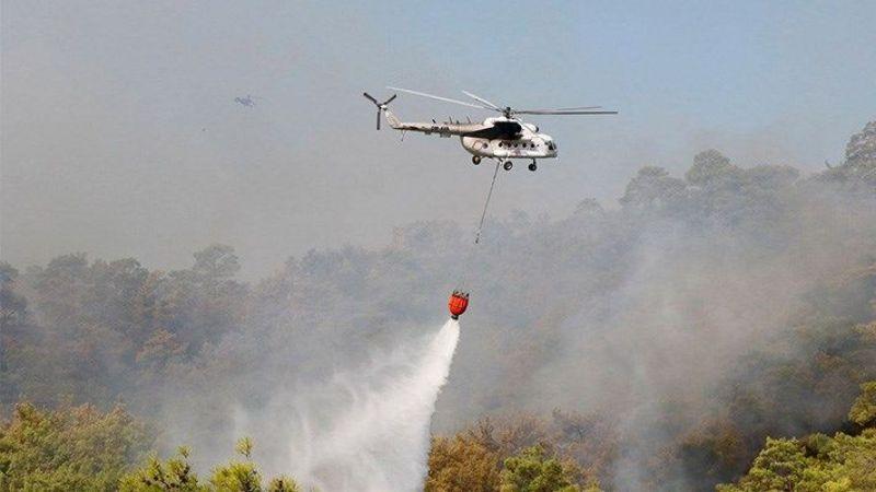 Dev yangınla büyük mücadele devam ediyor