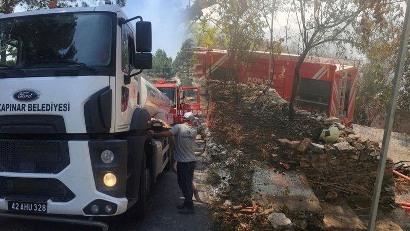 Halkapınar ekibi Manavgat'ta çalışmalarına başladı