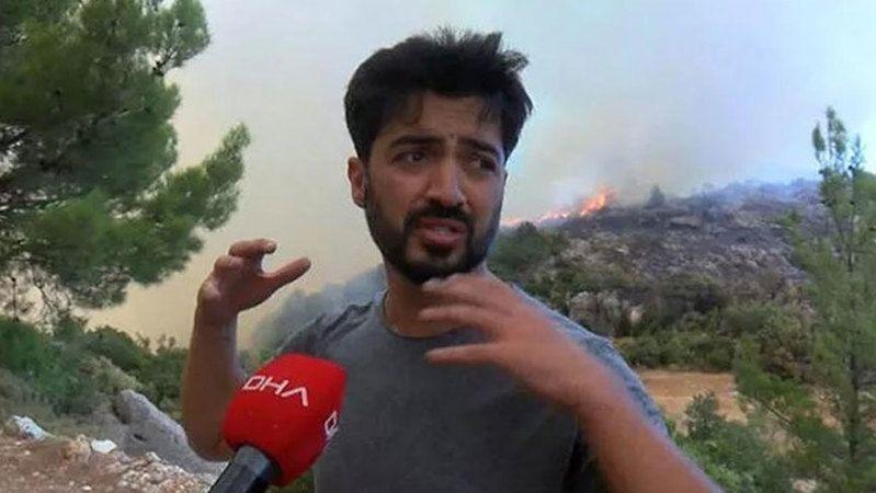 Şarkıcı Yusuf Güney Manavgat'ta yangın alanında gözaltına alındı