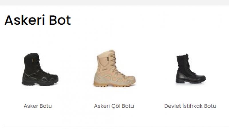 Kaliteli Askeri Bot Fiyatları İçin www.askerimalzeme.net!