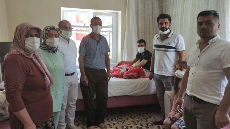 Sosyal Hizmet Merkezi Müdürlüğü'nden Gazi Akviran'a ziyaret