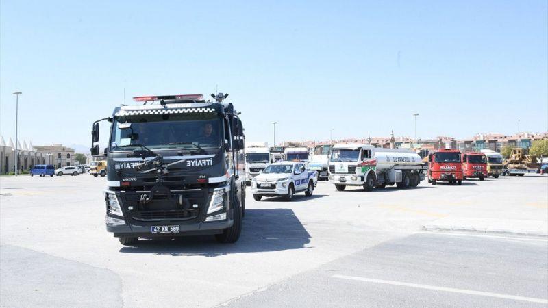 Konya'dan Muğla'ya 23 araç daha gönderildi