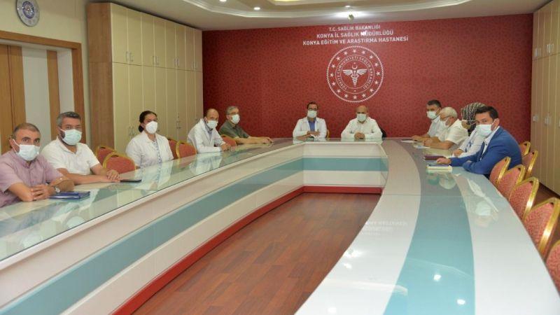 Konya hastanelerinde alınacak koronavirüs tedbirleri görüşüldü