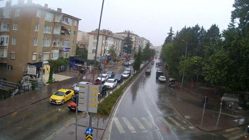 Ereğli'de yağmur sevinci