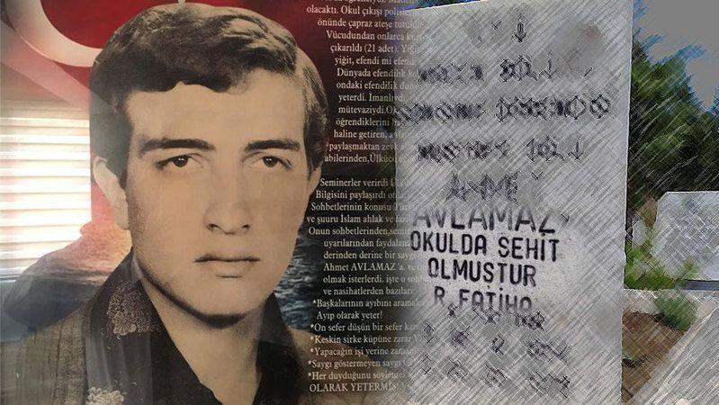 """Mezar taşında """"Okulda şehit oldu"""" yazıyor! Ahmet Avlamaz kimdir?"""