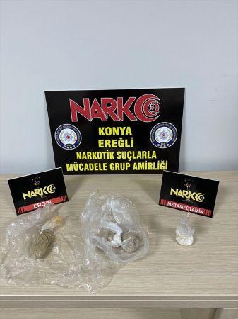 Konya'da tavuk dürüm içerisine gizlenmiş uyuşturucu ele geçirildi