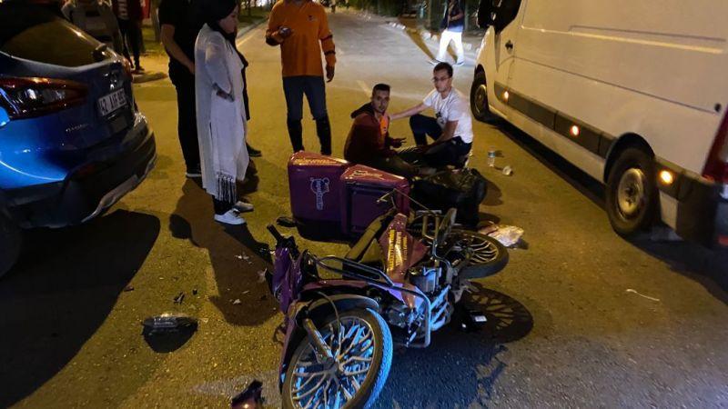 Ereğli'de motosiklet kazası