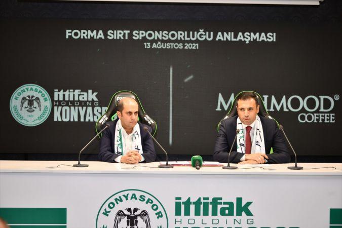 "Konyaspor'un forma sırt sponsoru ""Mahmood Coffee"" oldu"