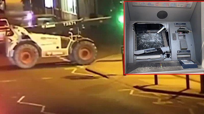 ATM'ye Forkliftle Saldırdı