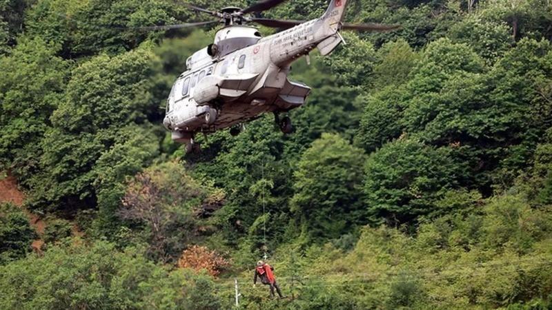 Sel bölgesinden 681 kişi helikopterlerle tahliye edildi