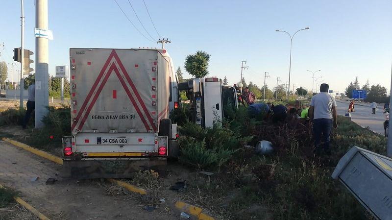 Ereğli'de kaza! Minibüsle kamyonet çarpıştı