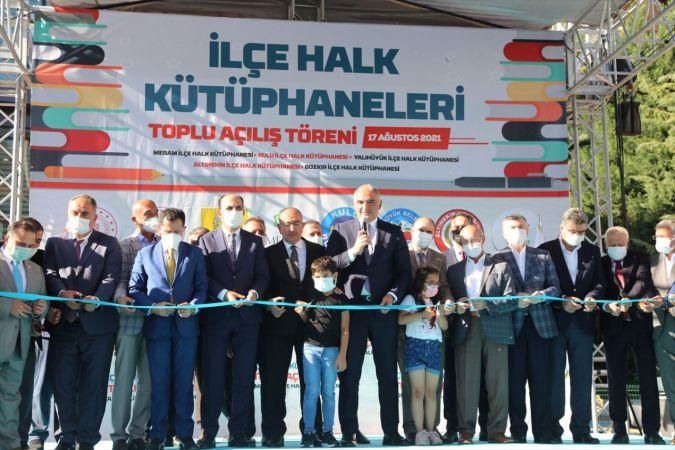 Kültür ve Turizm Bakanı Ersoy, Meram İlçe Halk Kütüphanesi açılış töreninde konuştu: