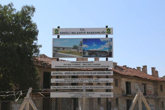 Taş evler restoresini Konya Büyükşehir yapsaydı 13 milyon lira Ereğli'ye kalacaktı