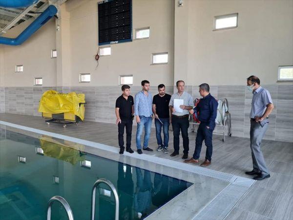Konya Gençlik ve Spor İl Müdürü Şahin'den yarı olimpik havuzda inceleme