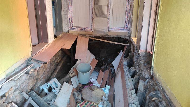 Evin zemini çöktü! İki kişi yaralandı