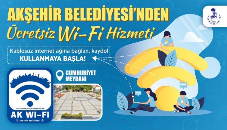 Akşehir Belediyesi'nden ücretsiz internet hizmeti