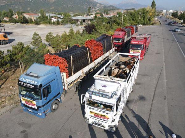 Seydişehir'den Gündoğmuş ve Akseki'deki yangın mağdurlarına yardım