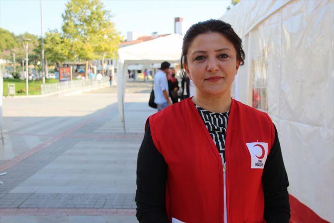 """Konya'da Kızılay tarafından """"Konya Hayat Veriyor"""" kan bağışı etkinliği düzenleniyor"""